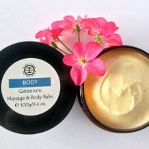 Organic Geranium Massage & Body Balm