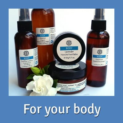 Organic skin care for your body