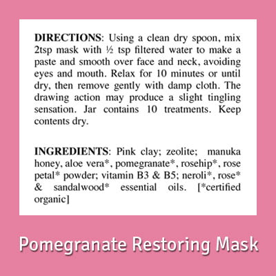 TSB Pomegranate Restoring Face Mask