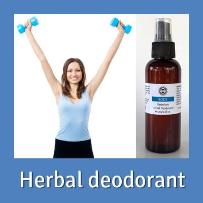 Organic herbal deodorant